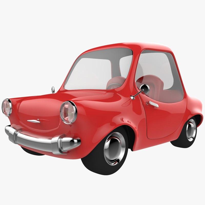 red cartoon car 3D
