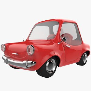 red cartoon car 3D