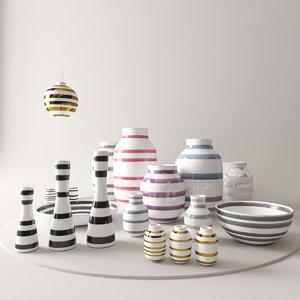 bowl christmas baubles 3D model