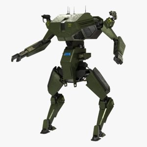 3D mecha battle robot