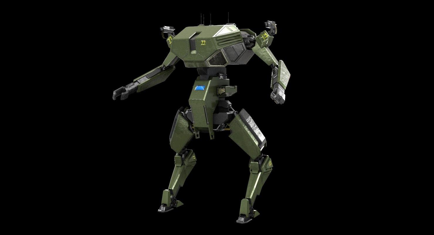 3D mecha battle robot