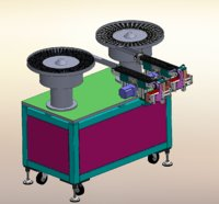 3D model bearing gear vibration plate