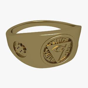 illuminati ring 3D