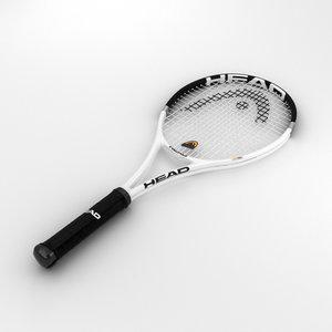 3D model racquet tennis