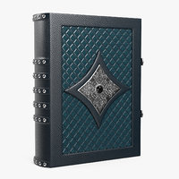 book blue leather 3D model