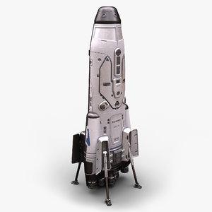 sci fi space shuttle 3D model