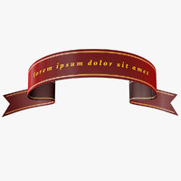 Ribbon Banner Single Line 1