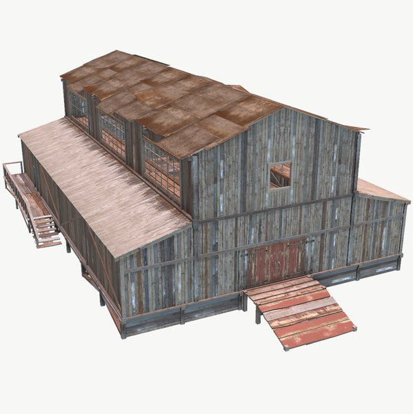 extremely pbr barn old model