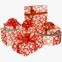 set gifts 3D model