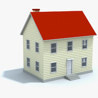 free house toy 3d model