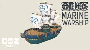 piece marine warship model