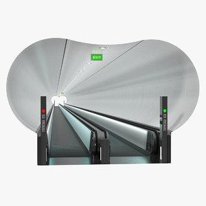 travelator tunnel 3D model