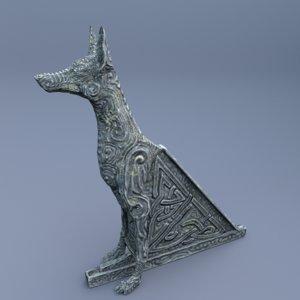 3D statue hound