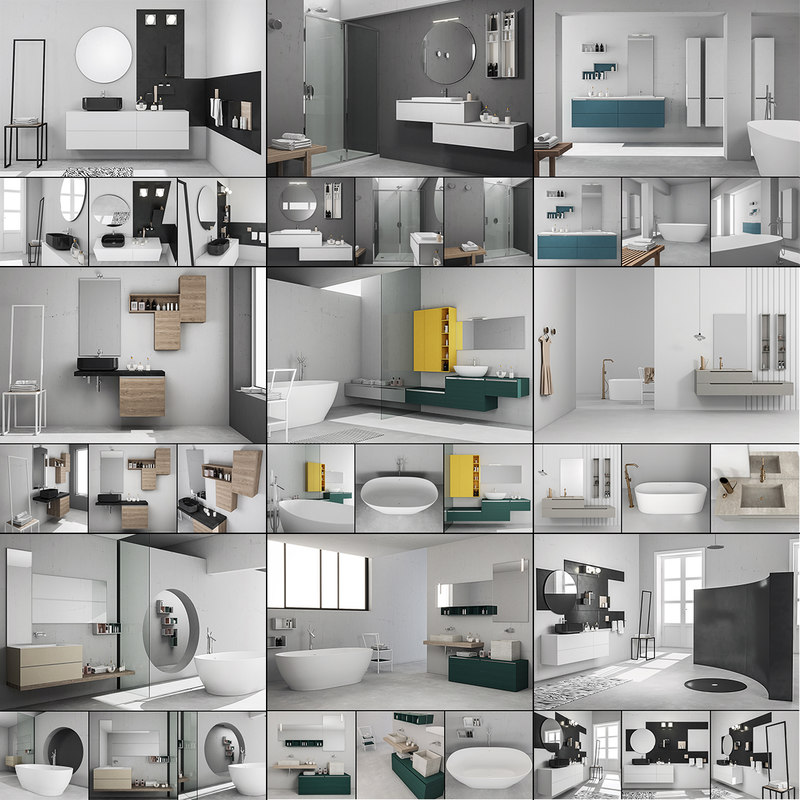 3D model bathroom furniture 4 9