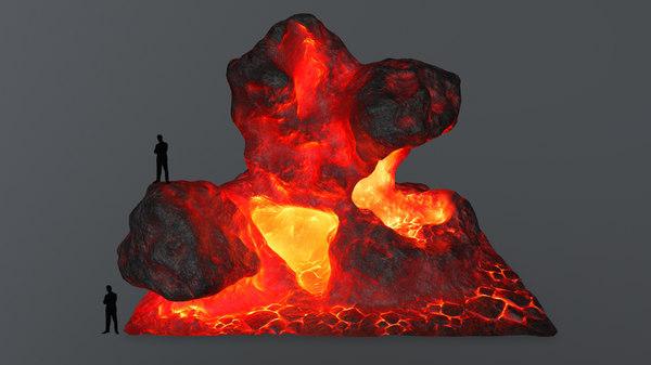 3D lava rock