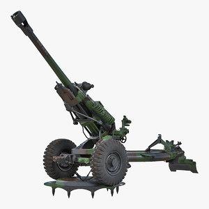 field artillery m119a1 howitzer 3D model