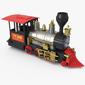 3D train toy locomotive rigged