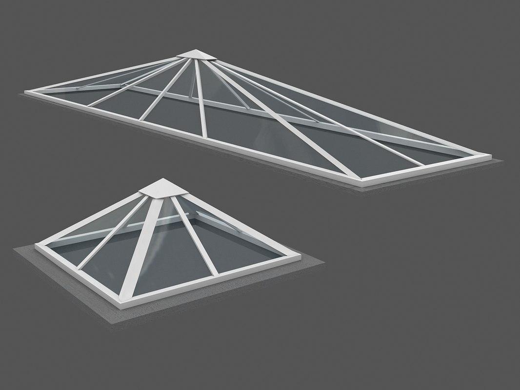 rooftop upvc glass 3D model