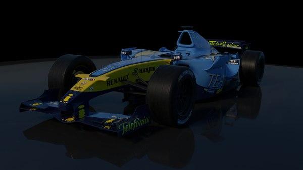 3D model formula renault r25 2005