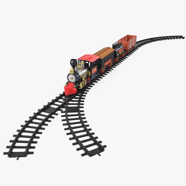 classical train toy set 3D model