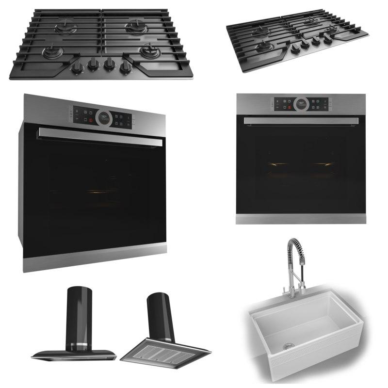Kitchen Set 3d Model Turbosquid 1342184