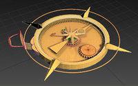 ancient golden compass 3D model