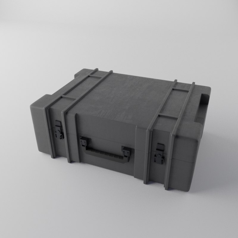 3D military weapon case model