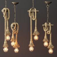3D model loft lamp style 2