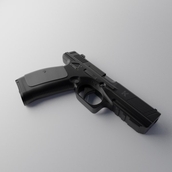 3D model russian pl-15 pistol