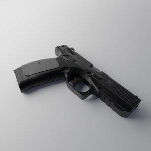 3D model russian pl-15 pistol