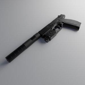 3D model russian pl-15 pistol attachments