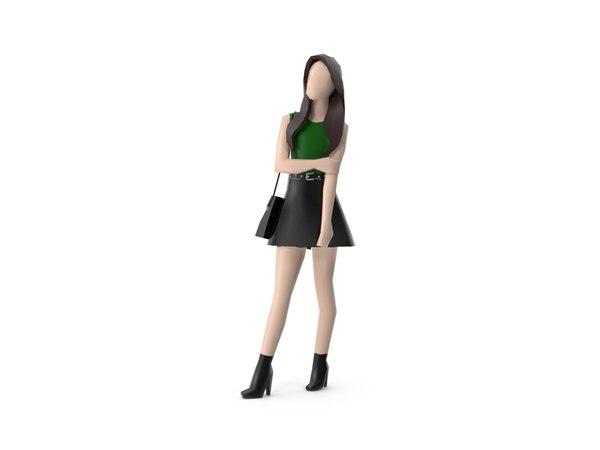 3D model modern girls