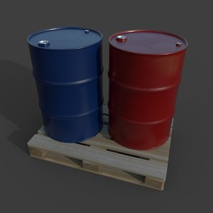 barrel pallet oil 3D model