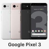 3D google pixel 3 color model