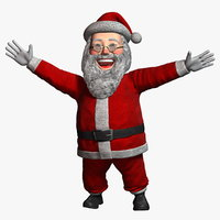 3D model cartoon santa claus 1