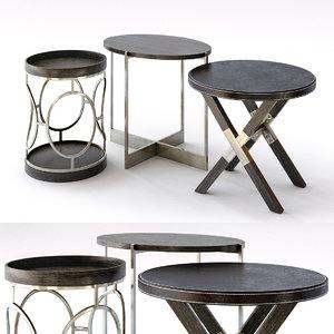 clarendon end table 3D model