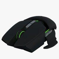 razer ouroboros computer mouse 3D model