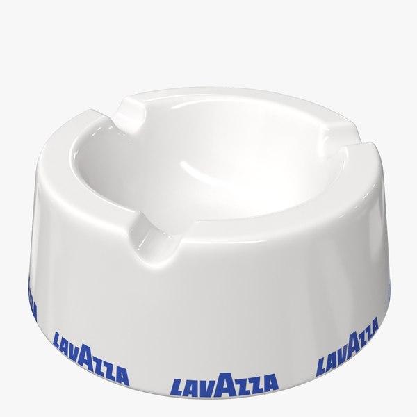 3D realistic lavazza porcelain ashtray