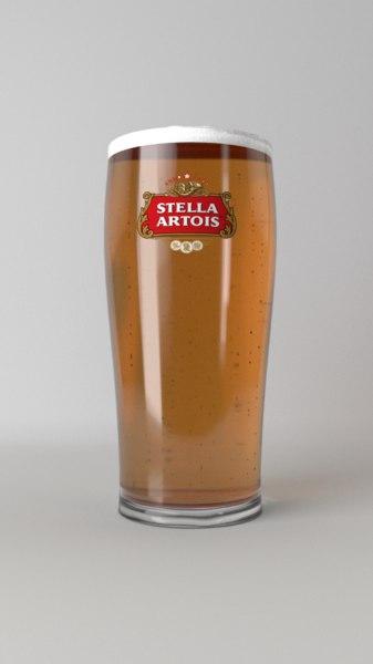 pint glass beer 3D