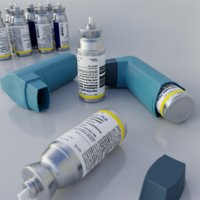 albuterol inhaler 3D model