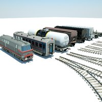Lowpoly Train Pack