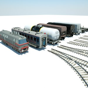 3D train pack hopper model