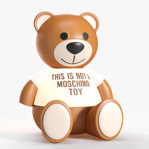 3D lamp kartell bear moschino