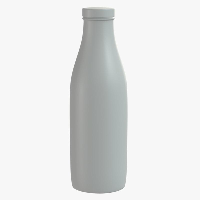 3D bottle buttermilk milk model