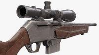 bar rifle barmk3 3D model