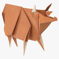 cow origami model