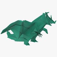 3D dragon origami