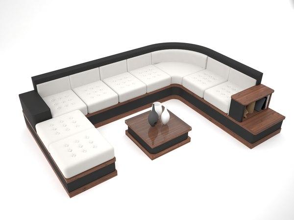 sectional sofa 3D