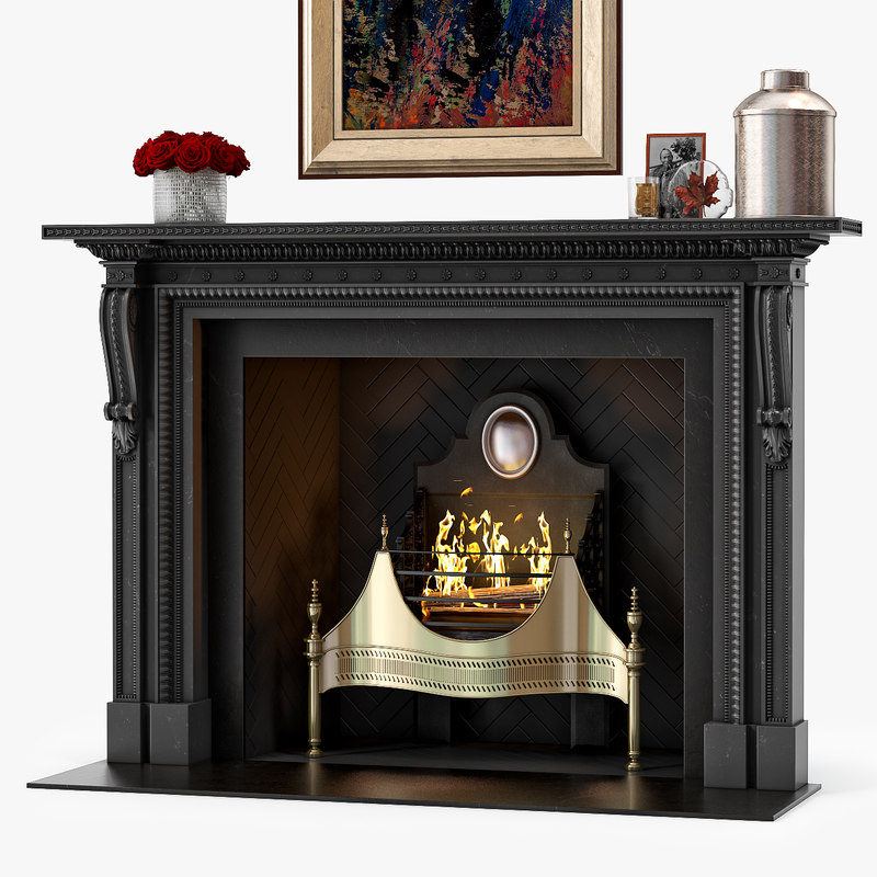 3D model chesneys locke fireplace