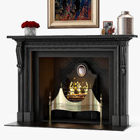 3D model chesneys locke fireplace